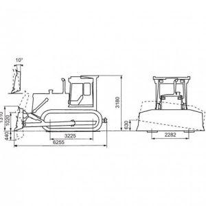 Бульдозер-Болотоход Б-170М